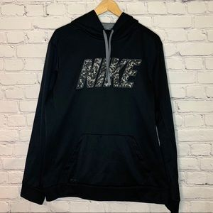 NIKE Therma-Fit Black hoodie with camouflage logo